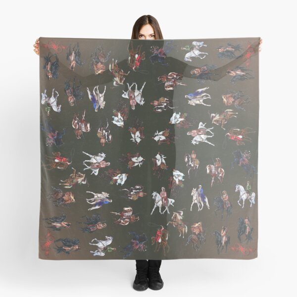 D1G1TAL-M00DZ ~ Riders of Karl May ~ Illustrations by tasmanianartist for Karl May Friends 170619 Scarf
