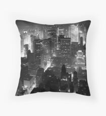 Sleepless In Manhattan Throw Pillow