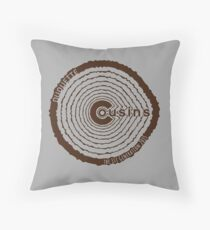 Duquette Cousins 1st Gen. Brown Throw Pillow