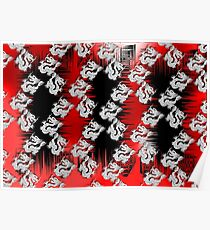 Chinese Dragon Red Black Design Poster
