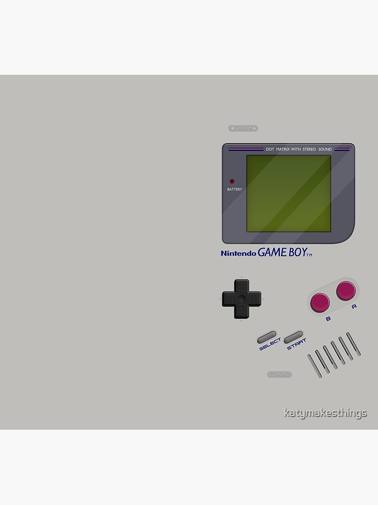 Classic Gameboy by katymakesthings