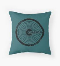 Duquette Cousins 1st Gen. Black Throw Pillow