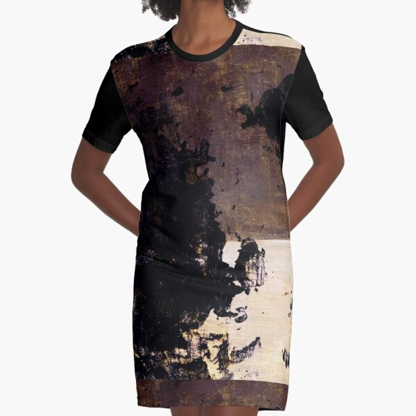 Art Scratches Graphic T-Shirt Dress