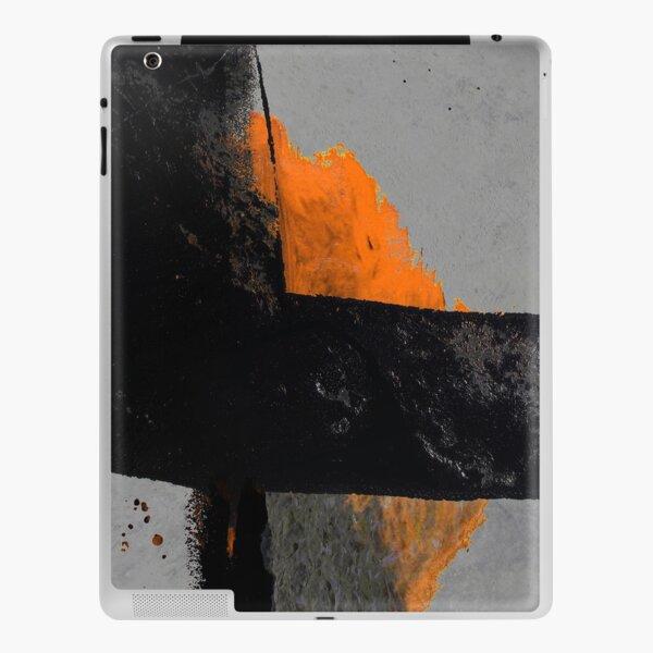 Minimal Orange on Black iPad Skin