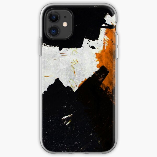 Minimal Orange on Black iPhone Soft Case