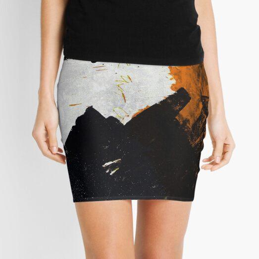 Minimal Orange on Black Mini Skirt