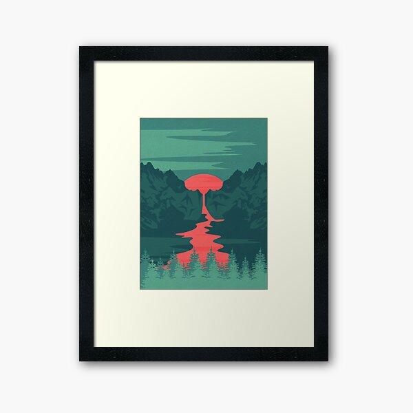 The Red River Framed Art Print