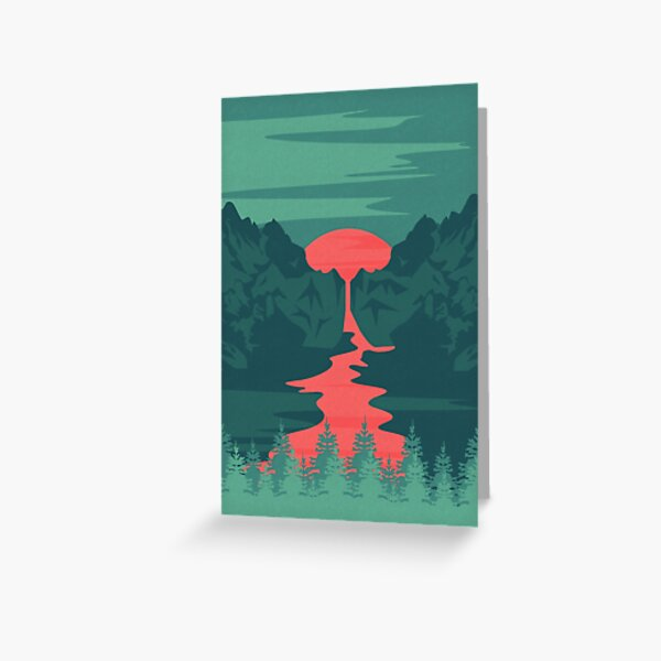 The Red River Greeting Card