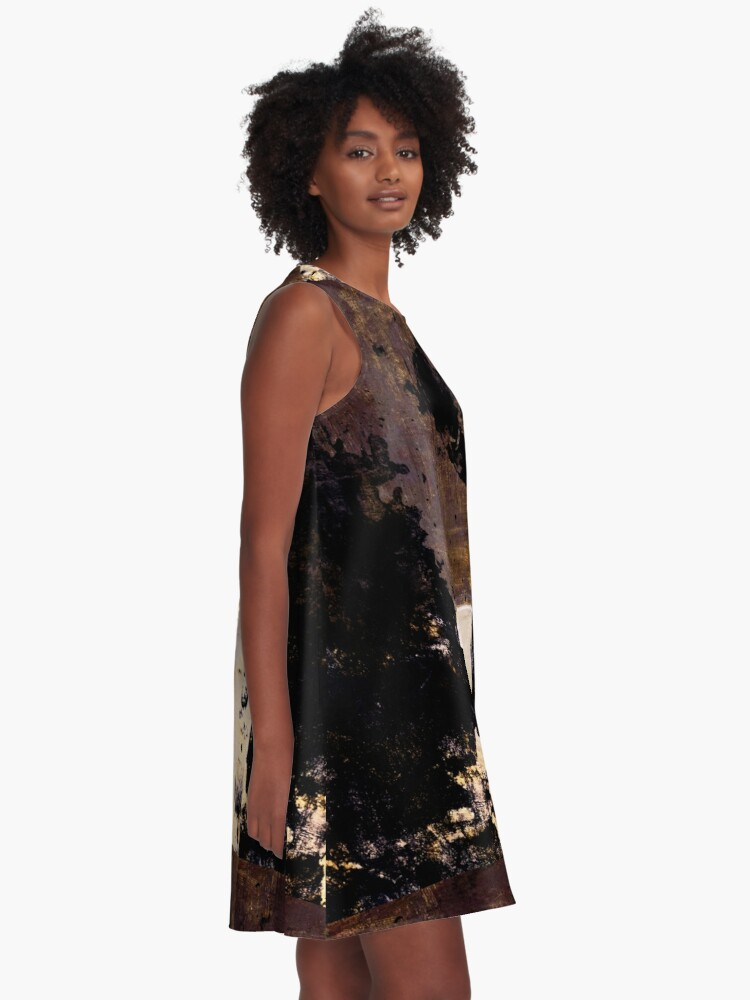 Alternate view of Art Scratches A-Line Dress