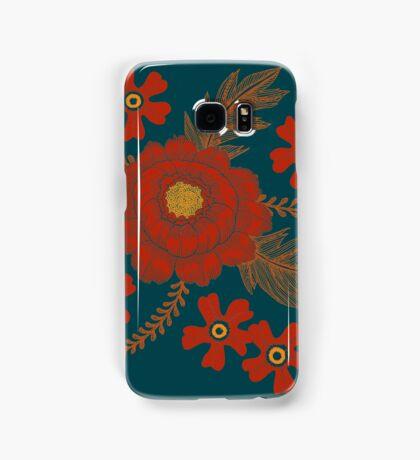 Red Peony Samsung Galaxy Case/Skin