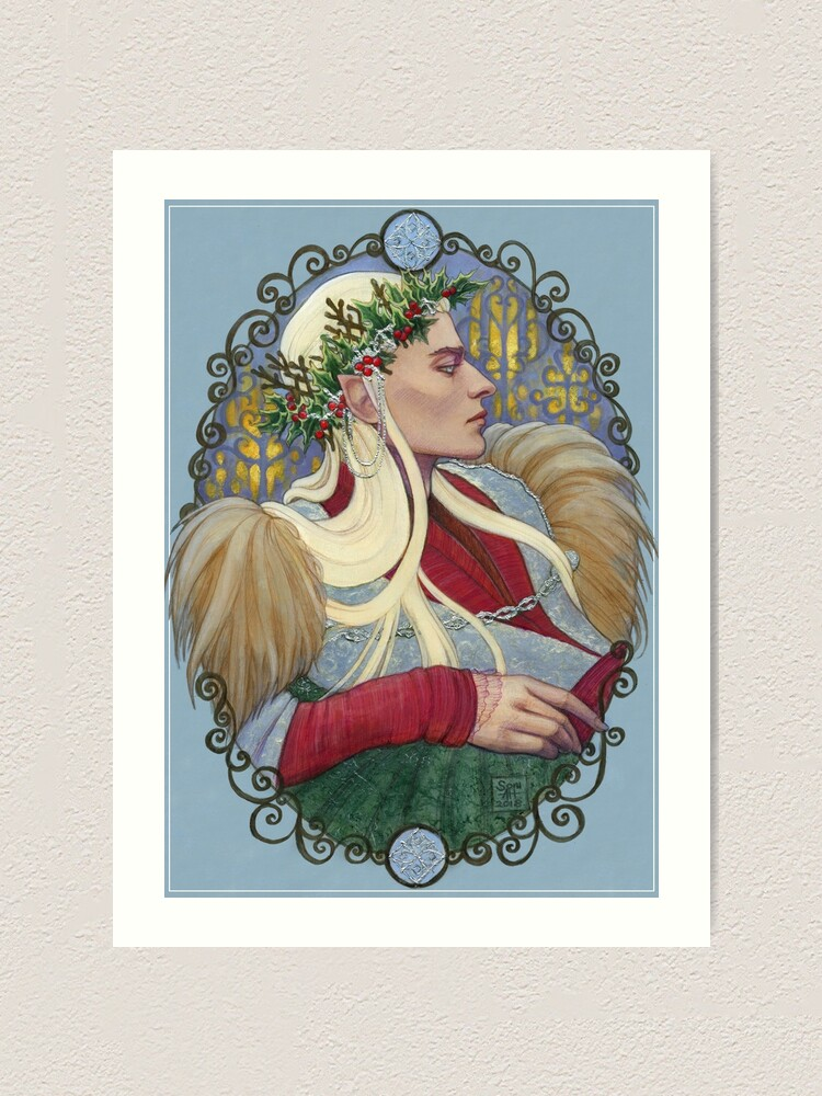 Alternate view of Elvenking in Winter Art Print