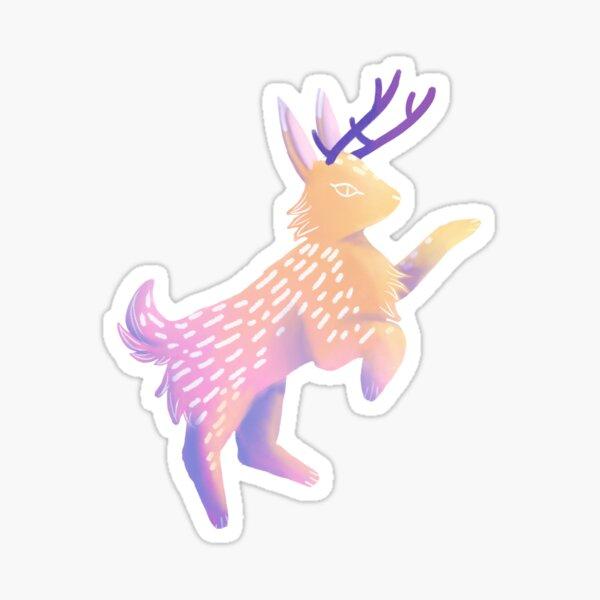Colourful Jackalope Sticker