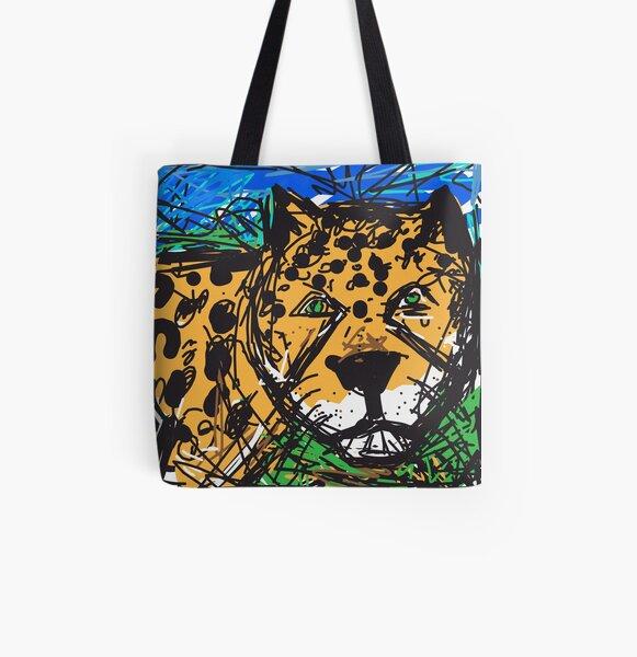 Jaguar All Over Print Tote Bag