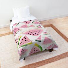Watermelon Twist Vibes #3 #tropical #fruit #decor #art Comforter