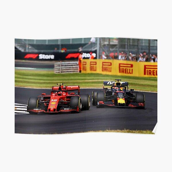 Leclerc vs Verstappen British Grand Prix 2019 2 Poster