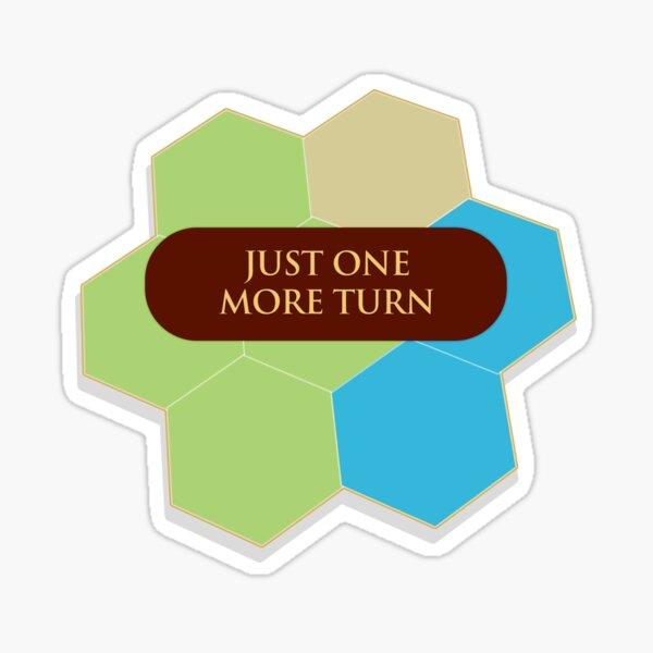Civilization: Just one more turn Sticker