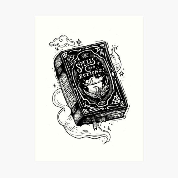 Libro de hechizos Lámina artística
