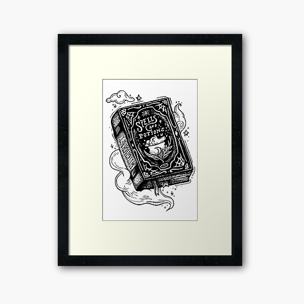Spell book Framed Art Print
