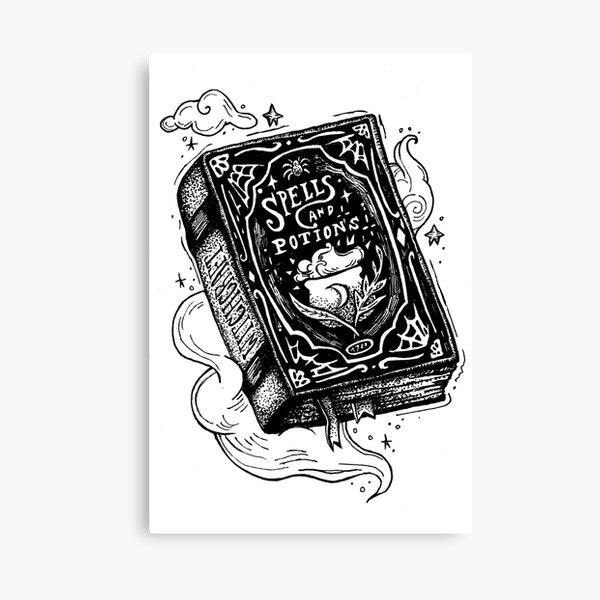 Spell book Canvas Print