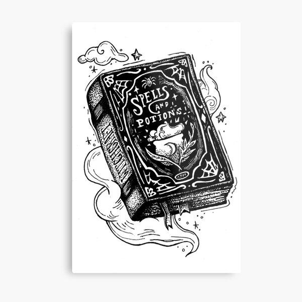 Spell book Metal Print