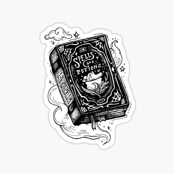 Spell book Sticker