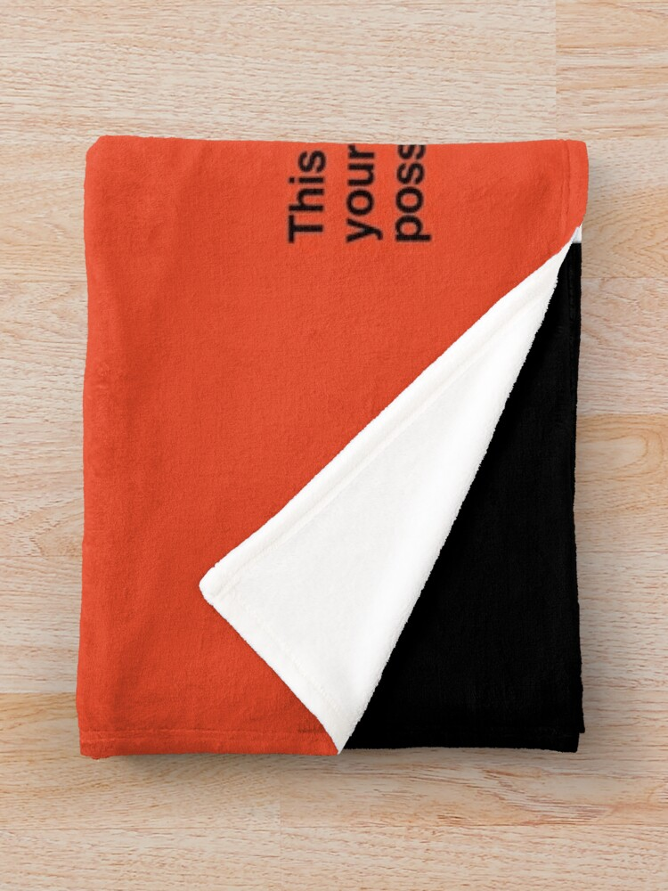 Alternate view of NDVH Protect and Survive Throw Blanket