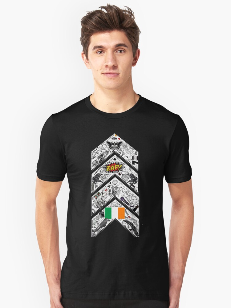 One Direction Inspired* Chevron Tattoo Unisex T-Shirt Front