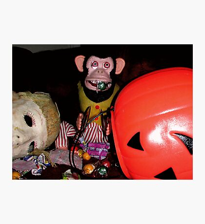 Musical Jolly Chimp Gorges on Candy Photographic Print