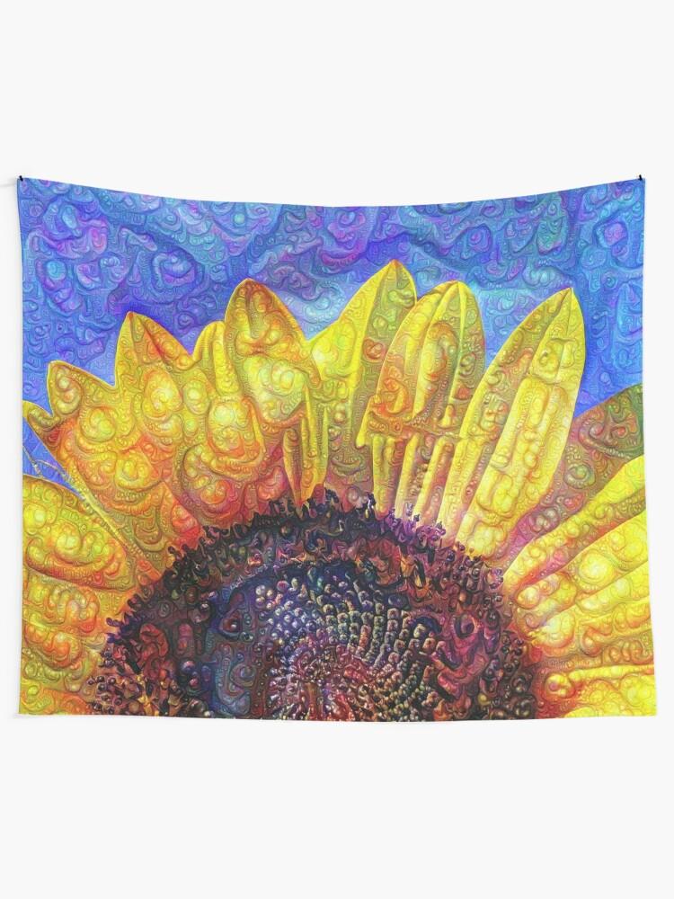 Alternate view of Solar eyelashes Tapestry