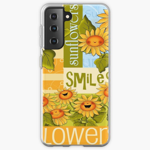 Sunflowers Make for Sunny Thoughts  Samsung Galaxy Soft Case