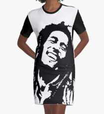 PORTRAIT of Bob the King of Reggae GIFT WRAPPED FOR CHRISTMAS Graphic T-Shirt Dress