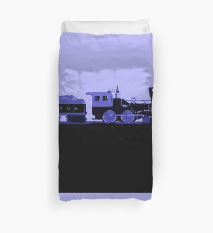 train blue Duvet Cover