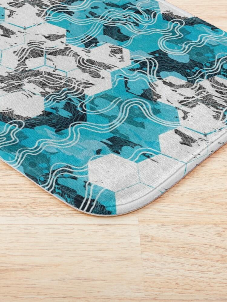 Alternate view of Geometric Camouflage Bath Mat