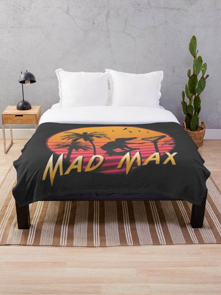 Mad Max Stranger Things Retro Throw Blanket By Americanblues Redbubble