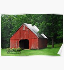 Starry Barn Poster