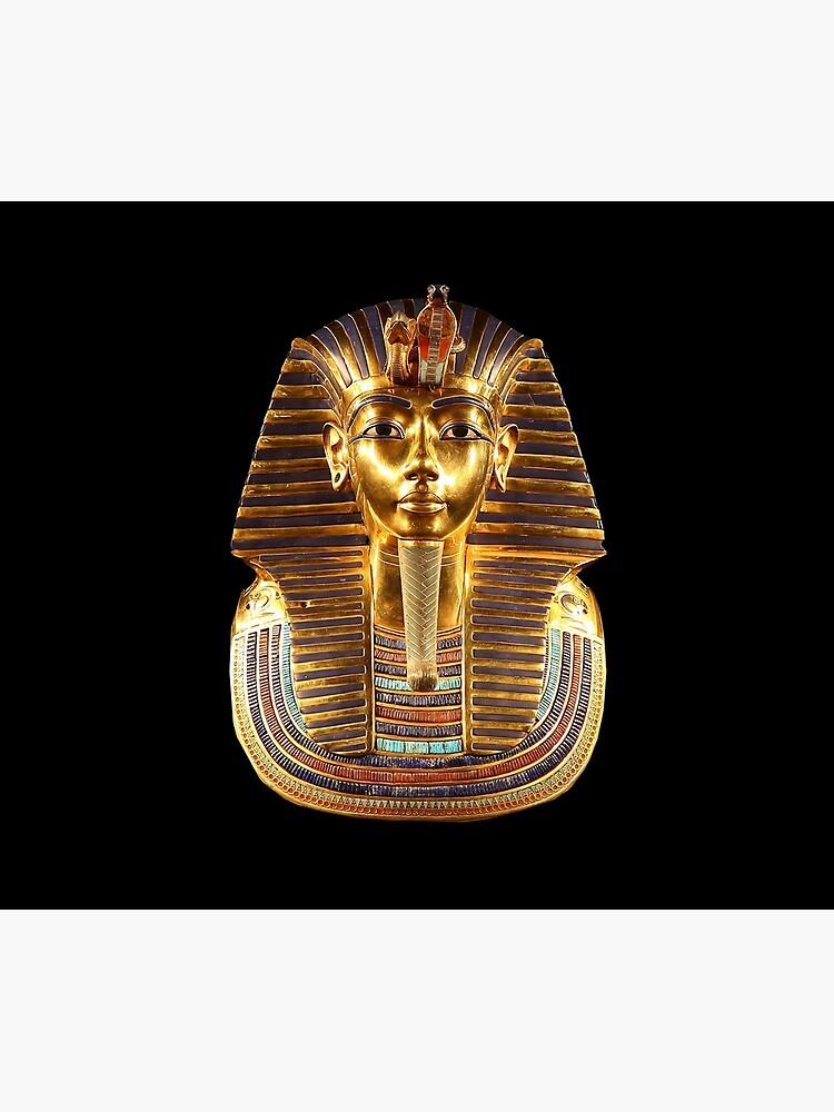 EGYPT. Egyptian. King Tut. Tutankhamun. Tutenkhamen. Tutenkhamon. Pharaoh, 18th dynasty, on Black. by TOMSREDBUBBLE