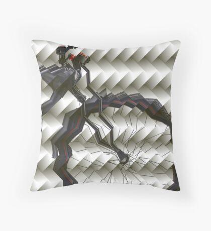 Folded Bike Throw Pillow