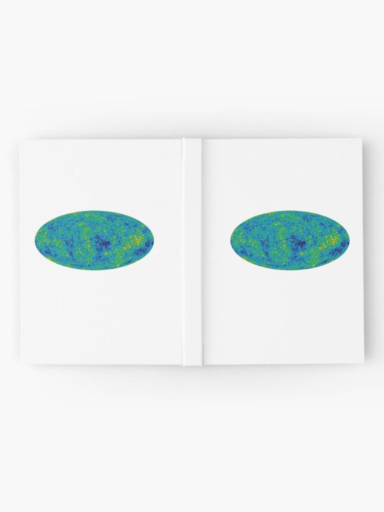 Alternative Ansicht von COSMOS, UNIVERSE, COSMIC, SPACE, BIG BANG, Nine Year Microwave Sky, 9 year WMAP image, background cosmic radiation Notizbuch