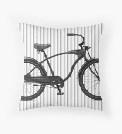 Bike Lines Throw Pillow