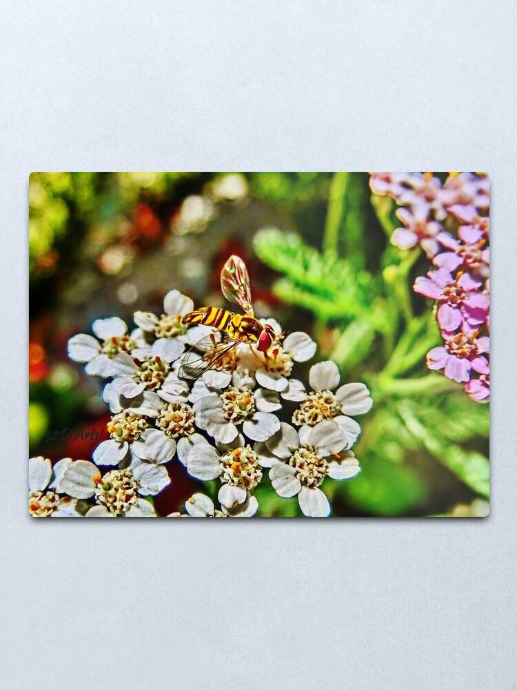 Alternate view of Meet the Pollinators, No.1 Metal Print