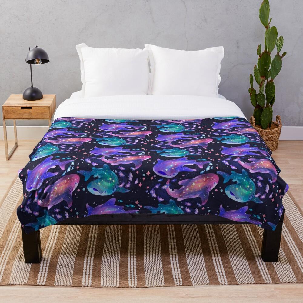 Cosmic Whale Shark Throw Blanket