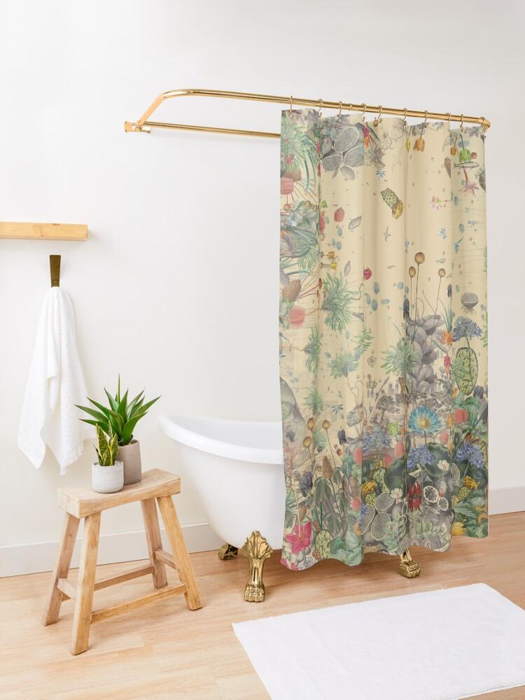 Alternate view of Garden Surround Shower Curtain