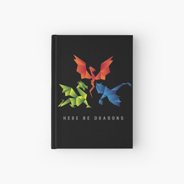 SCP-1762 Where The Dragons Went Origami Style Dragons Hardcover Journal