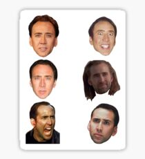 Nicolas Cage Faces Sticker