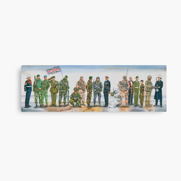 Royal Marine uniforms 1972 - 2014 Canvas Print