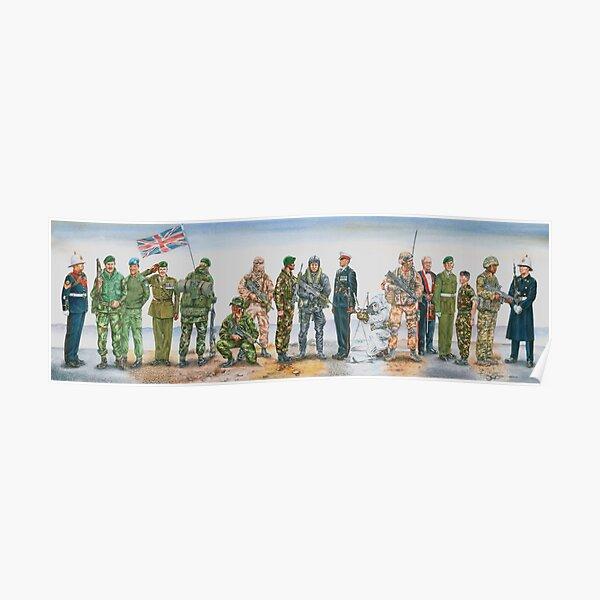 Royal Marine uniforms 1972 - 2014 Poster