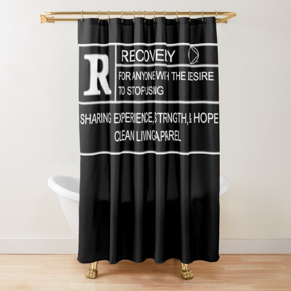 Rated R For Recovery Narcotics Anonymous Gifts NA AA Shower Curtain