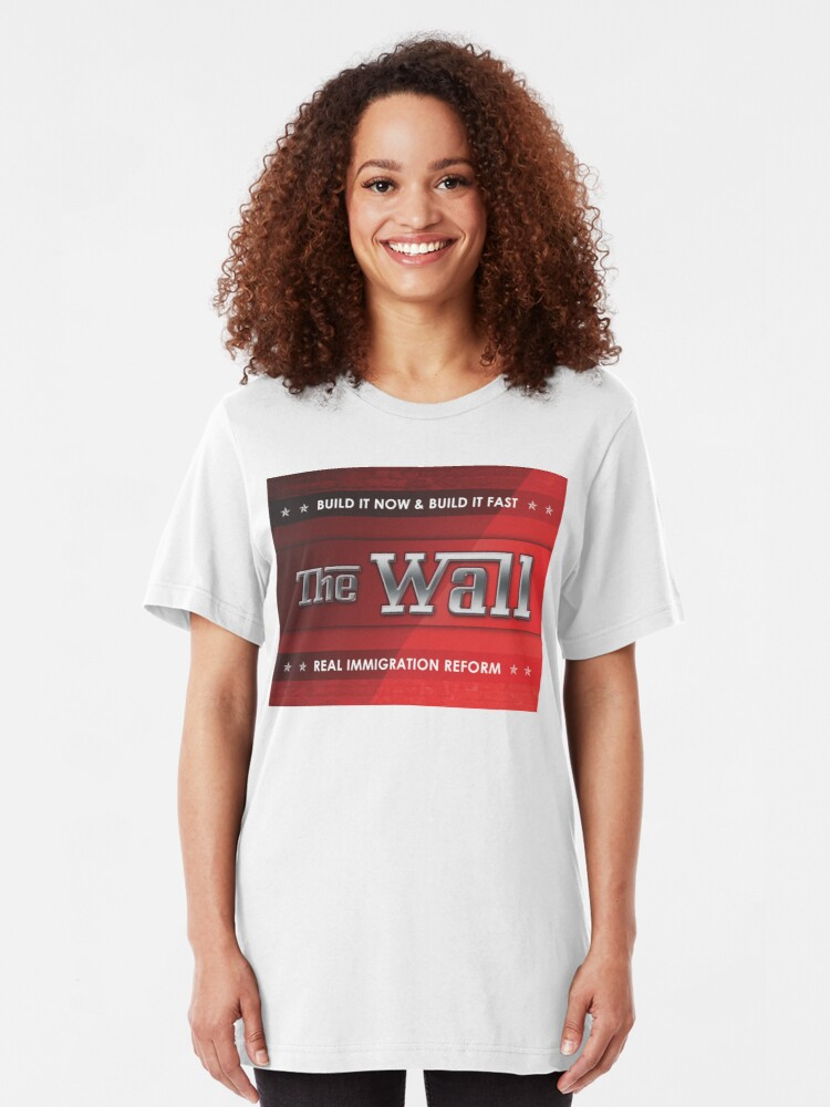 Alternate view of Build The Wall Slim Fit T-Shirt