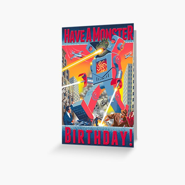 Have a Monster Birthday! Card Greeting Card