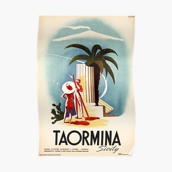 """/""""Summer In Italy/"""" ..Vintage Art Deco ENIT Travel Poster ...Various Sizes"""